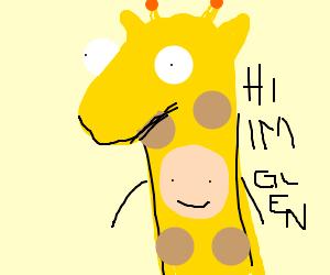 Glen, the man in the giraffe costume