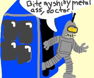 Bender exits the Tardas