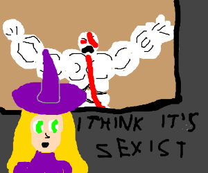 Witch says Video games are SEXIST!!
