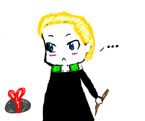 Malfoy gets a rock for Christmas