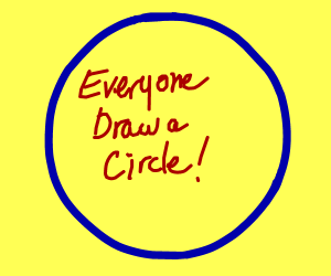 A Game Everyone Can Follow (Draw A Circle)