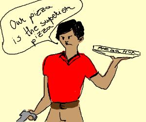 Hitler works at Pizza Hut