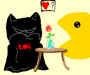 Batman's blind date turns out to be Pacman