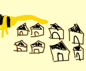 Temmie town in undertale