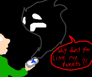 ghost follower asks why u dont like its tweets