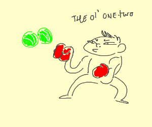 Give those tennisballs the ol' one-two