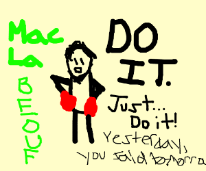 Punch Out's Little Mac as motivational speaker