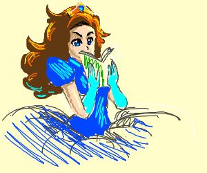 A princess reading a book.