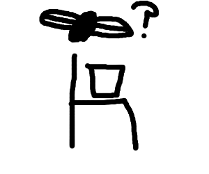fly finds bucket on chair and is very confused