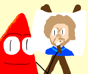 Res triangle painting Bob Ross