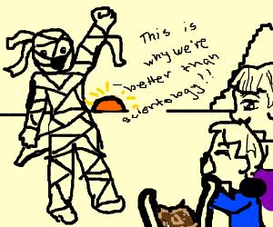 Mummy creating a cult