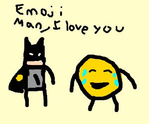 Batman loves Emoji Man