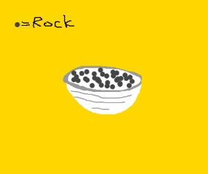 """""""The rock cereal"""" -yummiest of all cereal"""