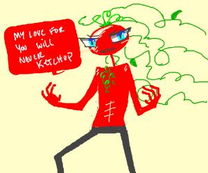 A perfect tomato man