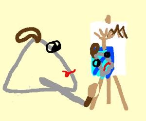Triangle attempts a surrealistic self-portrait