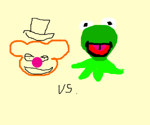 Fozzy vs Kermit in a battle to the death