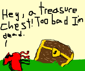 Dead bird finds treasure chest