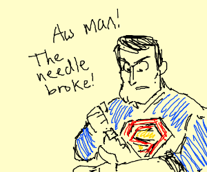 Superman is just a human jacked on steroids