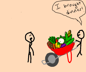 Stickmen need more vegetables in their diet