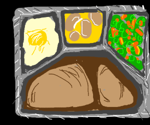 a delicious tv dinner