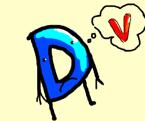 DrawCeption D is having a bad day because of V