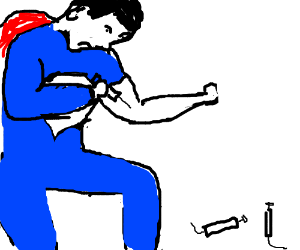 Superman's skin is too hard to use needles
