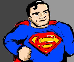 Very bulky Superman.