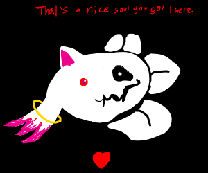 Kyubey and Flowey want your soul