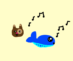 dog and whale whistling
