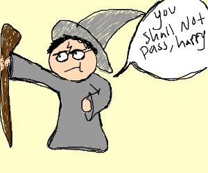 Harry Potter + Gandalf