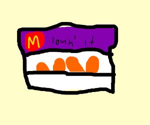 "Mc Donal ""Chicken"" Nugge. Delicious."