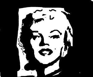 Marilyn Monroe. Just white, on black.