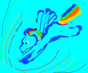 Rainboom drawing tutorial