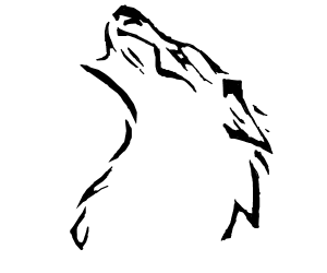 wolf drawn in native american style