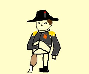 Napoleon with chicken leg