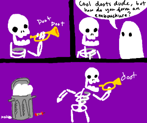 doot doot skeleton