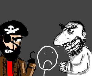 Pirates and Jews are after your blood!