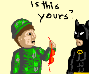 Army man thinks the bra belongs to Batman