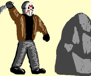 Jason doesn't like that rock.