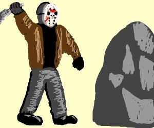 Jason doesn't like that rock.
