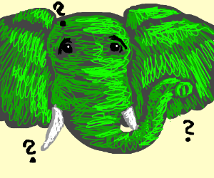 confused green elephant