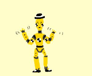 Crash test dummy jazz hands