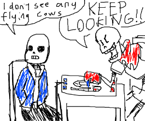 Papyrus cheating in a video game.