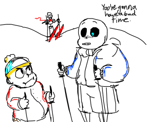 Sans tells Cartman he'll have a bad time