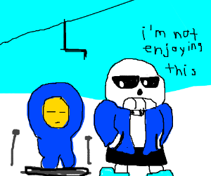 sans informs kid he will not enjoy skiing