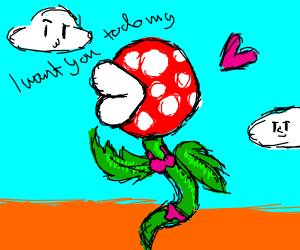 Piranha plant from Mario with pink underwear