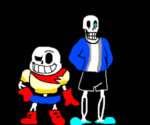 sans and papyrus switched outfits