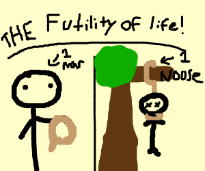 One Man, One Noose : The Futility of Life