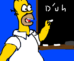 Homer Simpson teaching English
