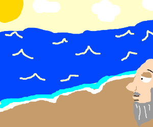 old man at the beach